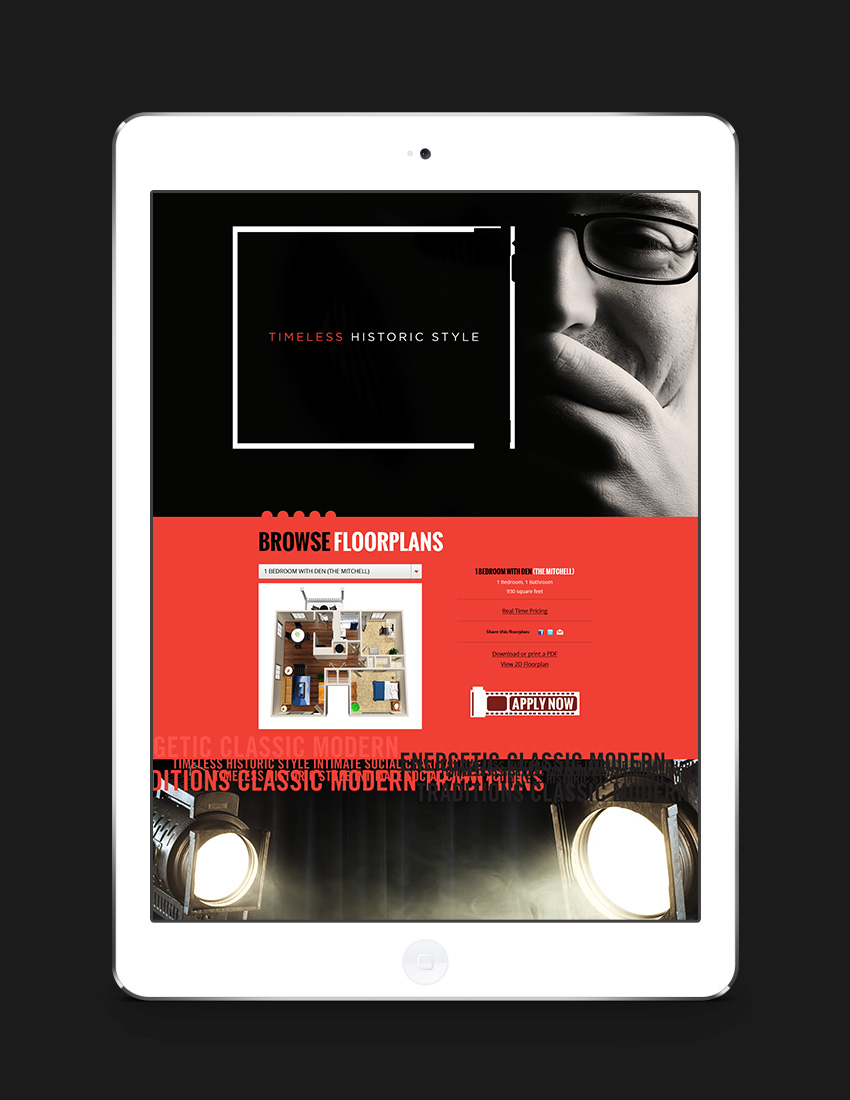Responsive web design for a website designed for art students