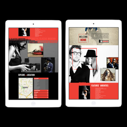 Web design for apartment homes for art students