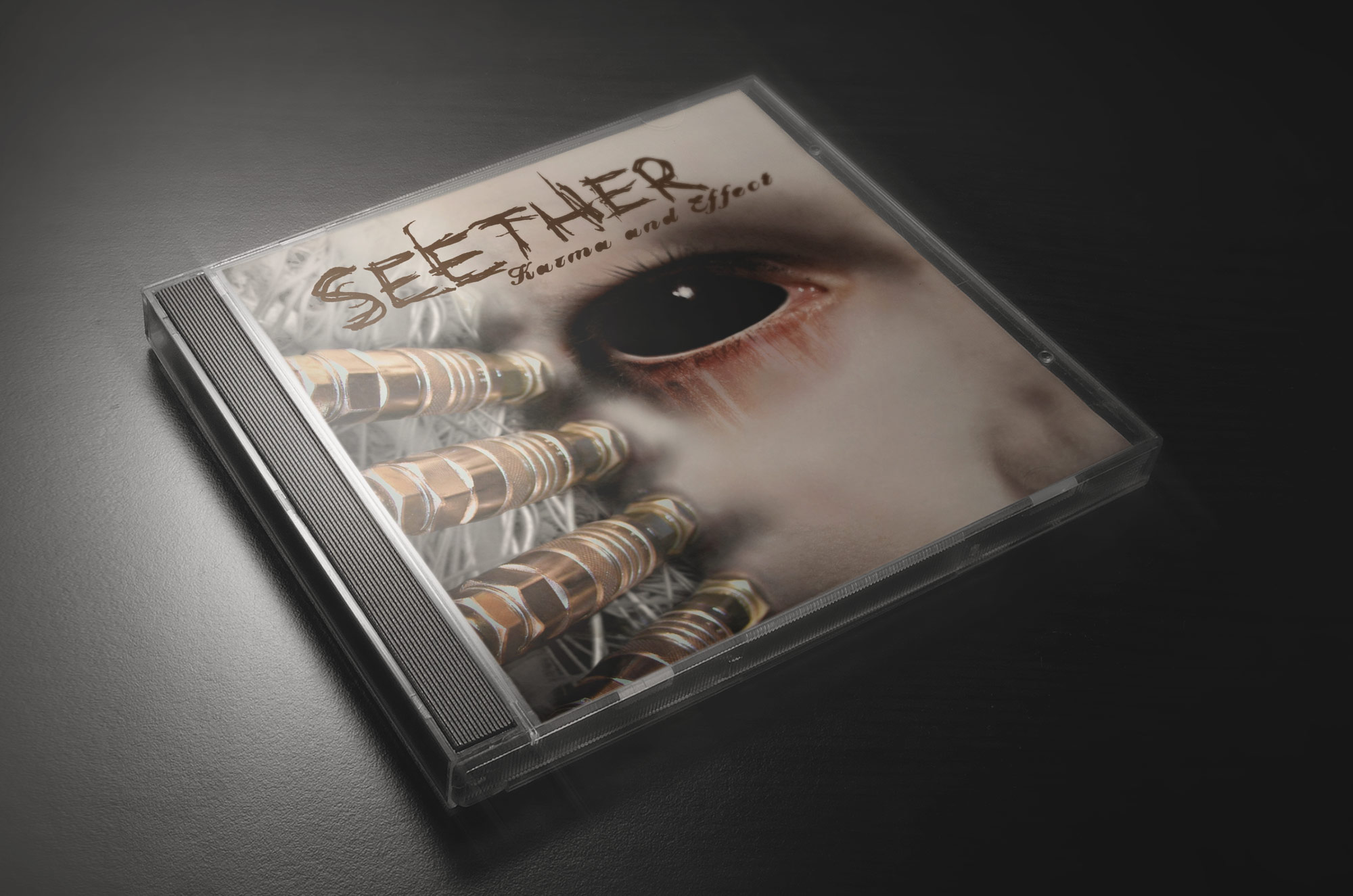I designed the album cover for Seether's Karma & Effect album