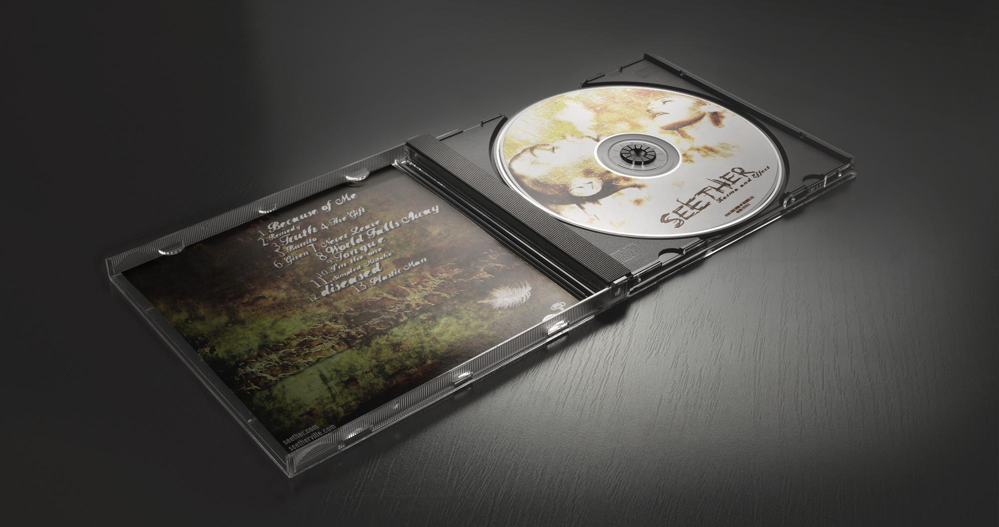 I designed the album cover for Seether's Karma & Effect album