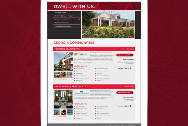 Web design for a community management and community portal website