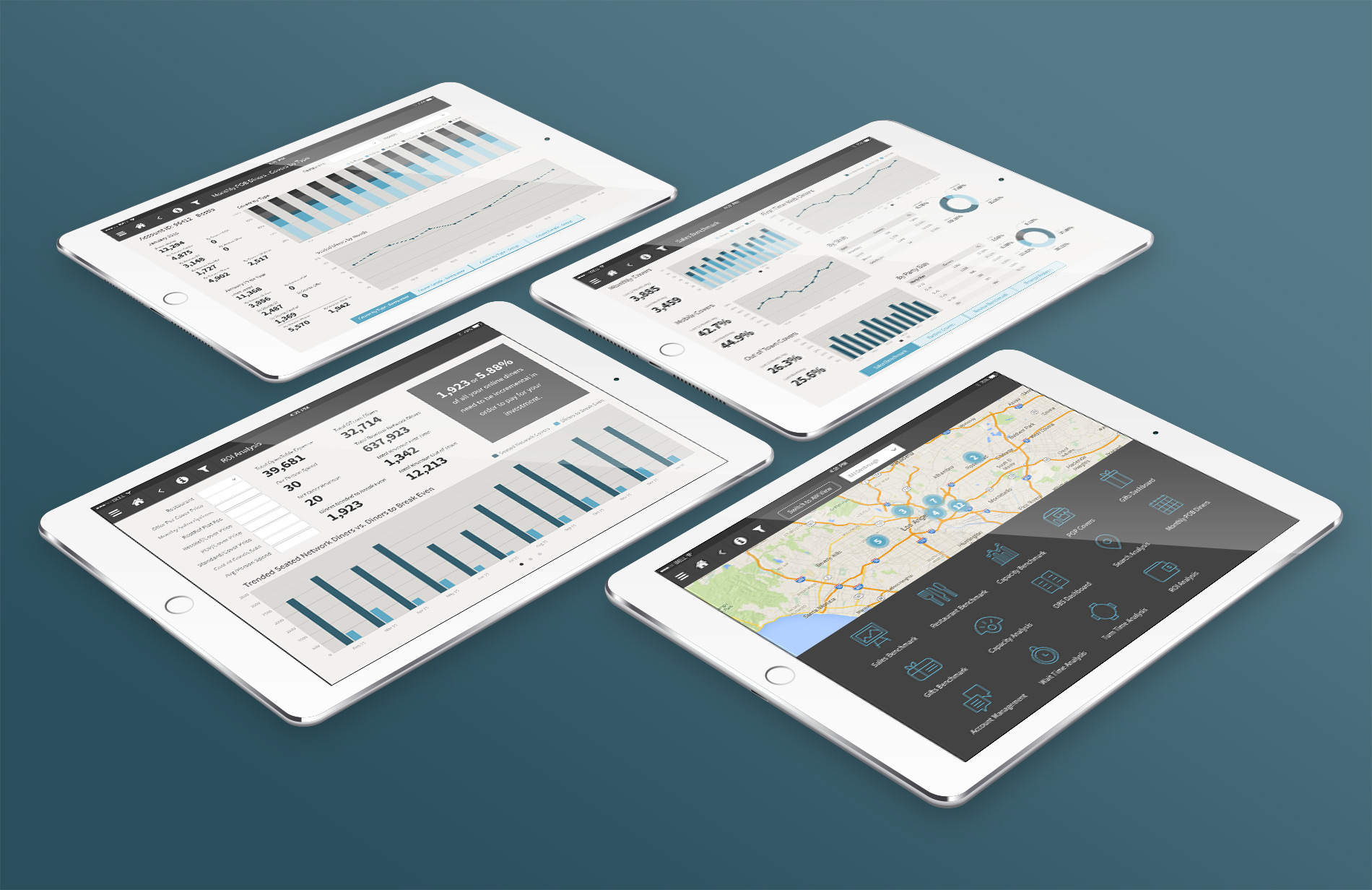 UI/UX design for a mobile analytics tool for an online reservation service