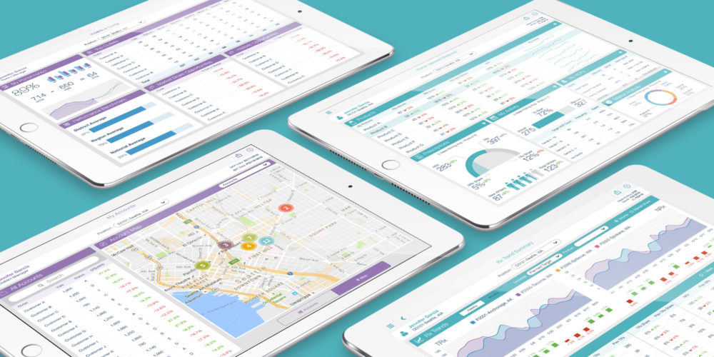 UX design for a suite of analytics apps for a global pharmaceutical brand