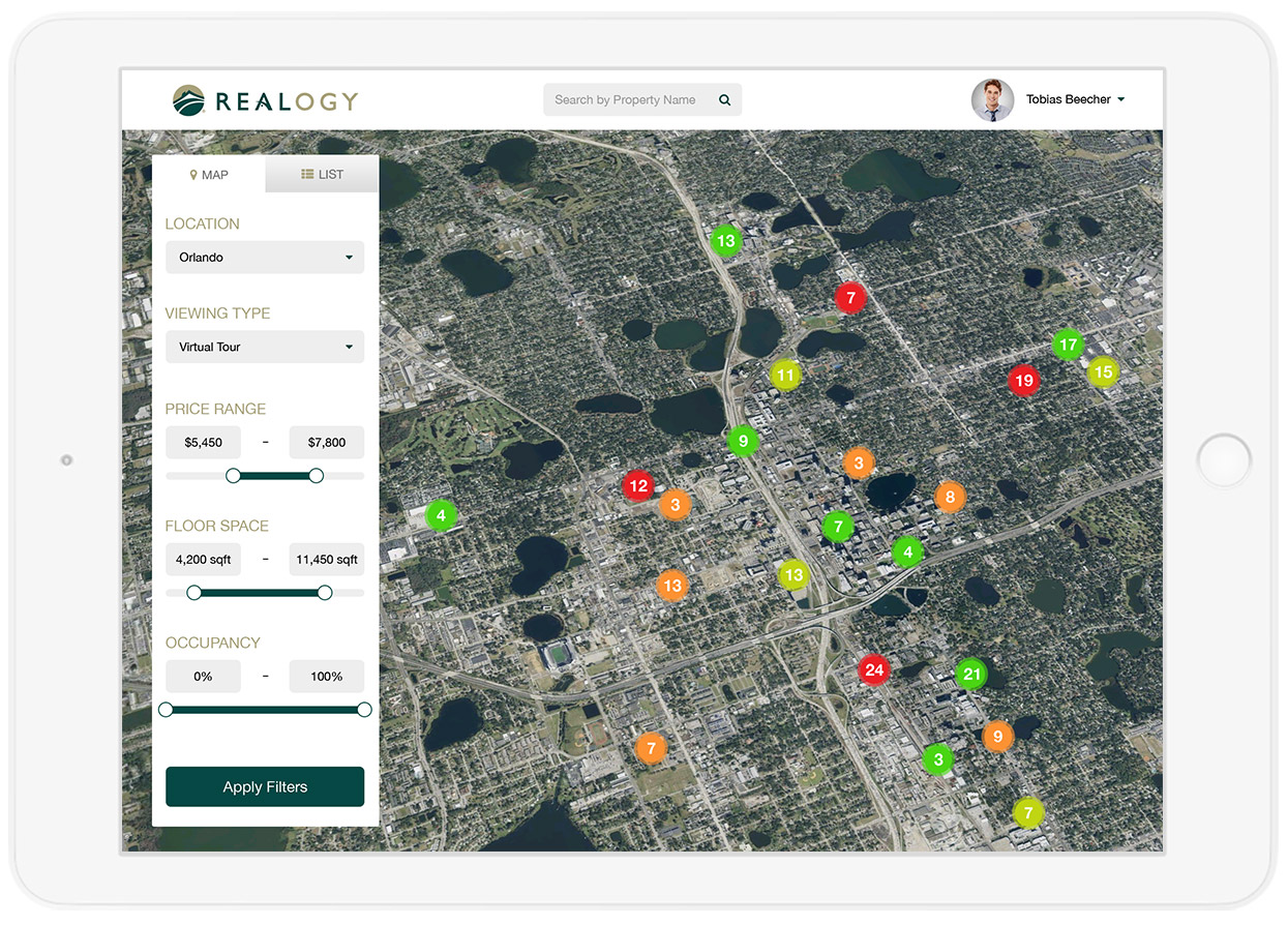 UX design for real estate ROI app