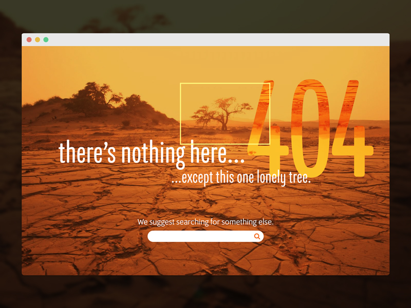Daily UI Challenge 008 - 404 Page