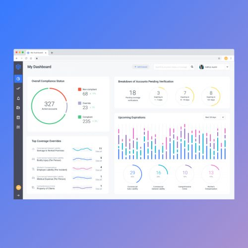 Product design for an insurance compliance verification tool
